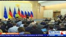 Vladímir Putin y Angela Merkel reanudan diálogo destacando que el conflicto en Ucrania sigue siendo el gran obstáculo para fortalecer sus relaciones