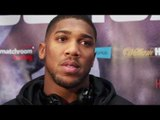 Anthony Joshua doesnt like to bring his belt to pressers!