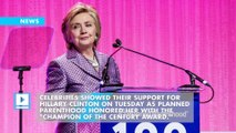 Celebrities turn out for Planned Parenthood gala honoring Clinton
