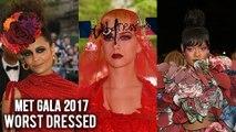 Met Gala 2017 WORST DRESSED | Katy Perry, Rihanna & Stars | Met Gala 2017 Red Carpet