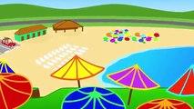 Yaz gelince çocuk şarkıları animasyon eşliğinde eğlenceli neşeli çocuk şarkısı