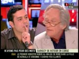 NICOLAS SARKOZY EN CORSE LE DEBAT EMISSION SUR I TELE