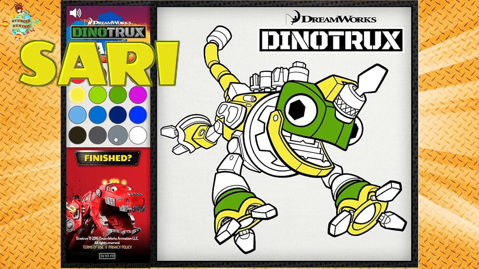 Revvit Dinozor Makineler Boyama Oyunu Ile Renkleri Ogrenelim 2