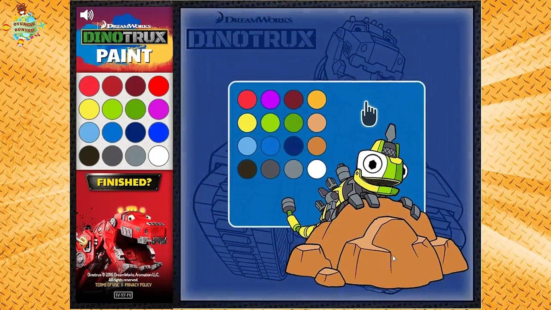 Ty Dinozor Makineler Boyama Oyunu Ile Renkleri Ogrenelim Tek Parca