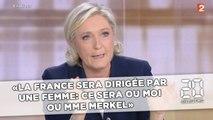 Marine Le Pen: «La France sera dirigée par une femme: ce sera ou moi ou Mme Merkel»