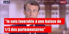 """Emmanuel Macron: """"Je suis favorable à une baisse d'1/3 des parlementaires"""""""