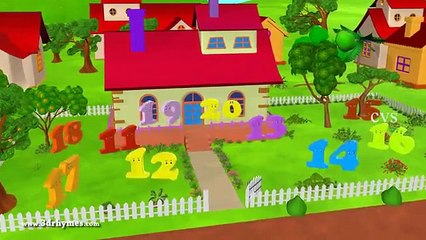 One Two buckle my shoe - 3D Animation English nursery rhyme for children - Playit