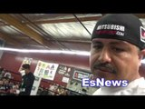 MIKEY GARCIA AMAZING HANDS SPEED WHILE SHADOW BOXING EsNews Boxing