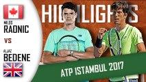 Milos RAONIC vs Aljaz BEDENE Highlights ATP 250 Istanbul 2017