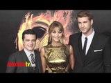 "Josh Hutcherson, Jennifer Lawrence, Liam Hemsworth at ""The Hunger Games"" Premiere"