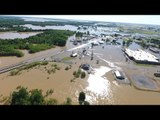 Drone Footage Shows Severe Flooding in Pocahontas From Rising Black River