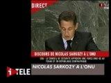 Nouvel Ordre Mondial annoncé par Nicolas Sarkozy