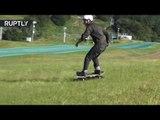 Skateboarding tractor: All-terrain skate crawler hits Tokyo streets & parks