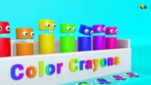 3D Color Crayons for Learning Colors  Crayons Nursery Rhymes  Crayon Color Song For Kids
