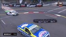 Australian V8 Ute Racing Series 2016. Race 1 Homebush Street Circuit. Ryan Hansford Crash