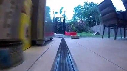 Awesome Lego Garden Railway and through the House