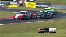 Porsche Carrera Cup Great Britain 2016. Race 1 Snetterton Circuit. Stephen Jelley Huge Crash