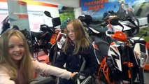 KTM Superduke Shopping trip wth two of my girls