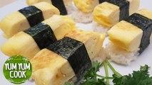 Tamago Nigiri Sushi Egg Omelette | How to Make Tamagoyaki Sushi