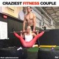 Faire du sport en couple... Séance de muscu incroyable