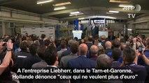 """Hollande dénonce """"ceux qui ne veulent plus d'euro"""""""
