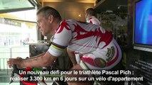 Record de distance sur un vélo d'appartement