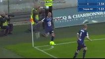 Résumé Auxerre - Troyes but Karim Azamoum 0-1