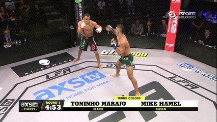 LFA 11: Em sua primeira luta internacional, Toninho Marajó ATROPELA Mike Hamel