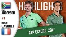 Kevin ANDERSON vs Richard GASQUET HD720 Highlights ATP 250 Estoril 2017