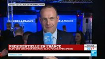 """Macron président : """"Ce n'est absolument pas une défaite"""", affirme Steeve Briois (FN)"""