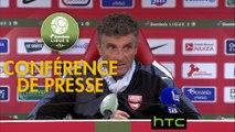 Conférence de presse Stade Brestois 29 - Nîmes Olympique (2-3) : Jean-Marc FURLAN (BREST) - Bernard BLAQUART (NIMES) - 2016/2017