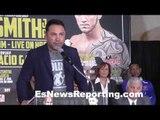 Oscar Dela Hoya talking undercard for Hopkins vs Smith - EsNews Boxing
