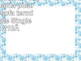 EHCManta polar Super suave manta polar manta de sofá térmica Chocolate Single 130x