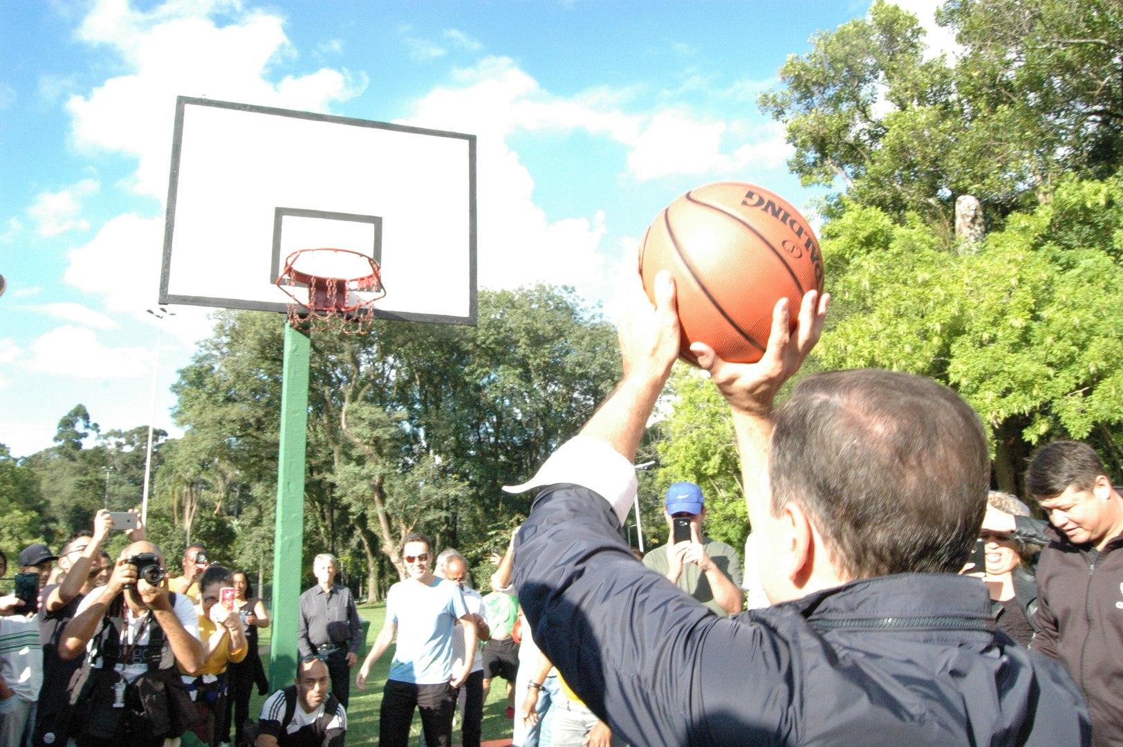 João Doria entrega 7 quadras esportivas reformadas no Parque Ibirapuera
