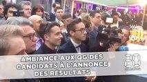 L'ambiance aux QG des candidats à l'annonce des résultats
