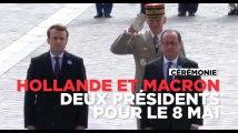 Macron et Hollande côte à côte pour rendre hommage au soldat inconnu le 8 mai