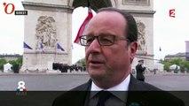 François Hollande affirme qu'il sera «toujours à côté» d'Emmanuel Macron