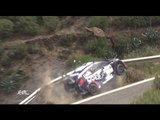 Near Miss for Rally Driver as Car Slams Into Guardrail Over Sheer Drop