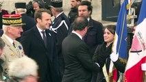 Hollande und Nachfolger Macron gedenken Weltkriegs-Opfer