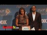 """Sanaa Lathan & Affion Crockett at """"42nd NAACP Image Awards"""" Nominations PART 2"""