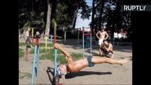 Super Ripped 71-yo Grandpa Shows Off His Jaw-Dropping Core Workout