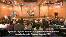 Syrie: première évacuation de rebelles de Damas depuis 2011