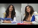beautiful ring girls talk boxing, fans, fights, fighters EsNews Boxing