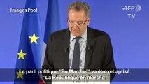 """""""En Marche!"""" va être rebaptisé """"La République en marche"""""""