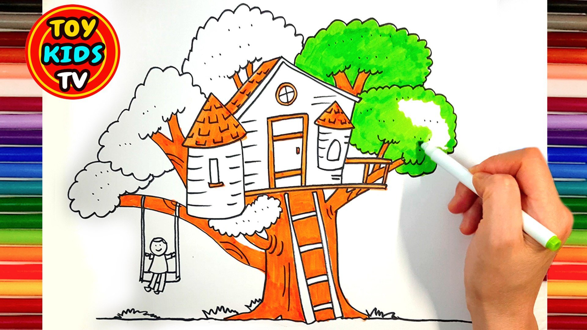 How To Draw A Tree House Video Dailymotion Home our channels little treehouse nursery rhymes and kids songs. how to draw a tree house