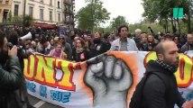 À Paris, première manifestation contre Emmanuel Macron après la présidentielle