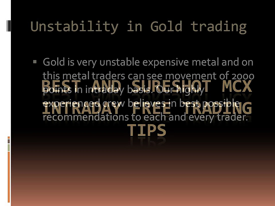Best and sureshot MCX Intraday free trading tips