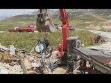 Castelluccio di Norcia (PG) - Terremoto, recupero beni agricoli sepolti (09.05.17)