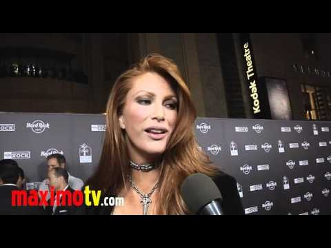 ANGIE EVERHART Interview at HARD ROCK CAFE Hollywood Opening