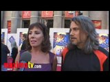 """Paige O'Hara (Belle), Robby Benson (Beast) Interview at """"Beauty And The Beast"""" Premiere"""